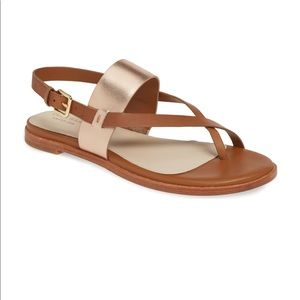 Cole Haan Anica Brown Leather Sandals